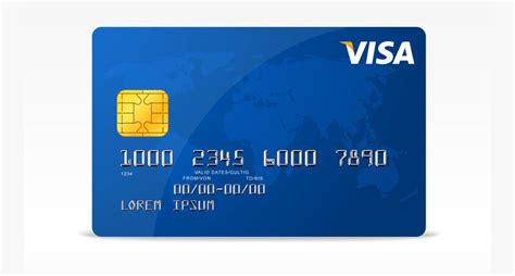 visa card template printable 19 credit card designs free premium templates