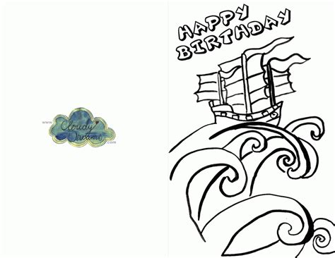 printable birthday cards in color happy birthday cards to color az coloring pages