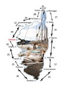 distances entre les ports de corse port de plaisance de
