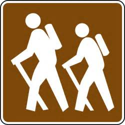 the color of a recreation area sign is hiking color clipart etc