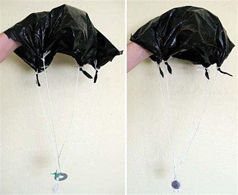 How Do You Make A Paper Parachute - parachutes does size matter