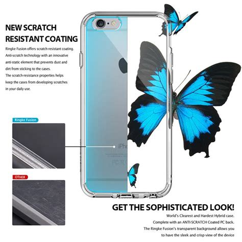 Exclusive Ringke Iphone 6 6s Fusion Shadow Black Paling Mur ringke fusion shock absorption skal till apple iphone 6 s