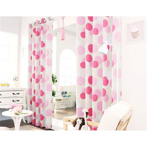 polka dot bedroom curtains rose red polka dots print poly cotton blend custom bedroom