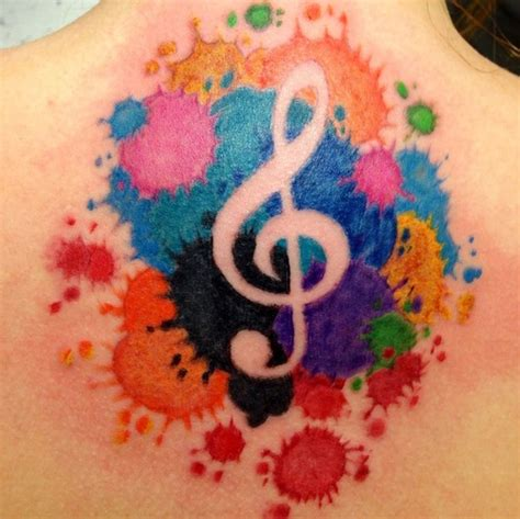 splash of color tattoo color splash treble clef picture at checkoutmyink