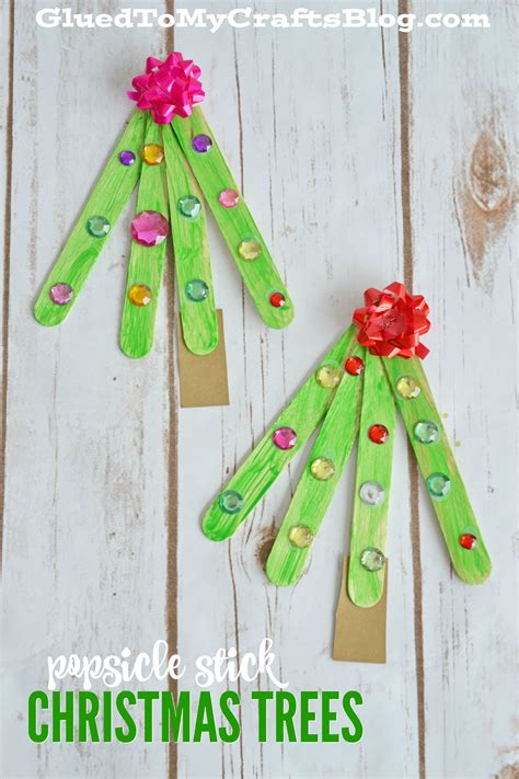 icestick crismax tree popsicle stick tree kid craft glued to my crafts