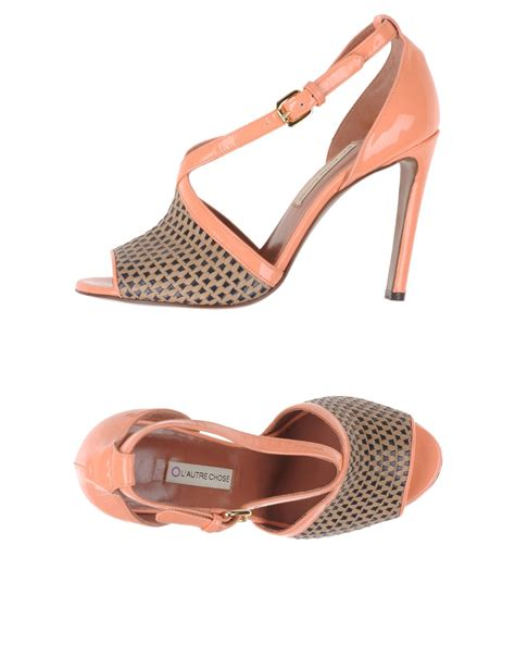 Sandal Salmon Tc 11 l autre chose sandals in pink salmon pink save 59 lyst