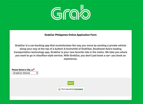 grab car application in the philippines