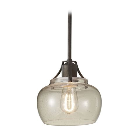 seeded glass mini pendant light retro glass shades