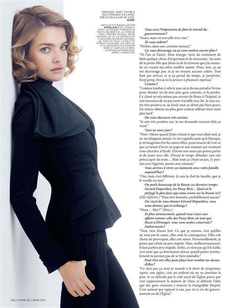 Teh Diet Etham vodianova in l officiel march 2013