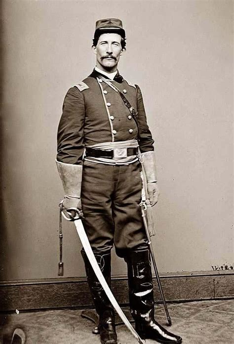 Civil Officer by Us Cavalry Vintage Indian Wars Cavalry Officer In