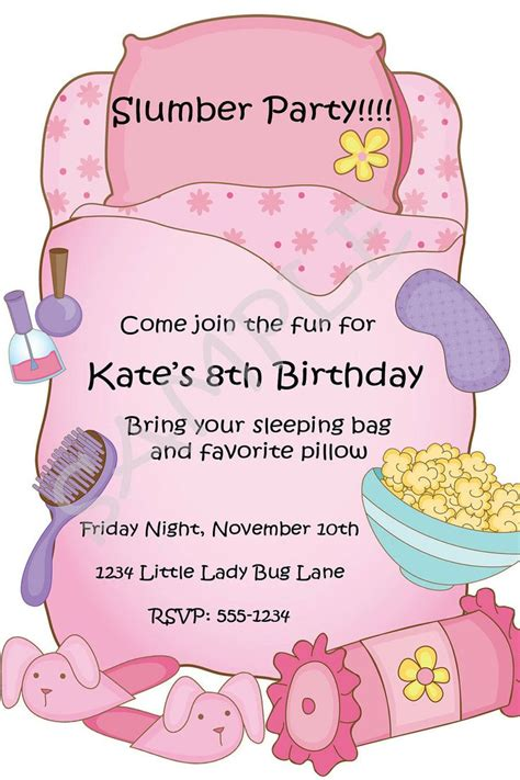 free templates for sleepover invitations free printable slumber party birthday invitations party