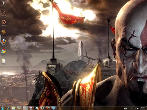 God Of War 3 Windows Theme Sounds Icons Cursors | god of war 3 windows 7 theme by yonited on deviantart