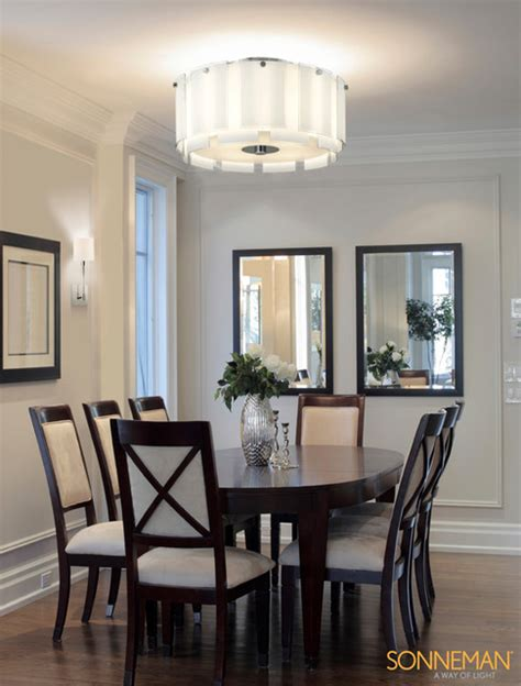 Flush Mount Dining Room Light Velo 3189 01 Semi Flush Mount Sonneman Lighting Contemporary Dining Room New York By