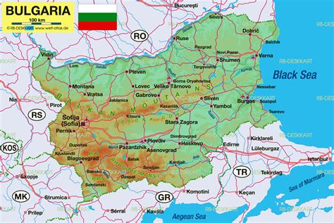 map of bulgaria map of bulgaria map in the atlas of the world world atlas
