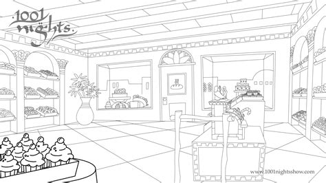 free coloring pages of bakery