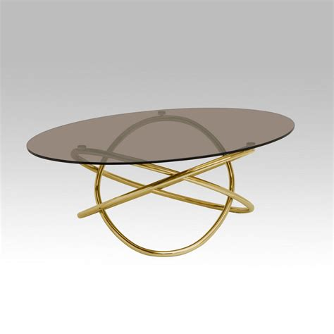 Gold Glass Top Coffee Table Blitz Gold And Glass Coffee Table