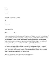 Resignation Letter Template Thank You Thank You Resignation Letter Free Word Pdf Documents Sles Letters Appreciation