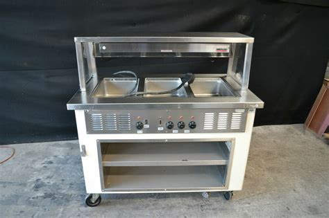 shelleyglas hot food serving counter steam table
