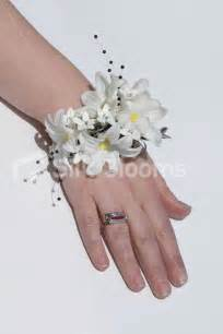 Lily Of The Valley Silk Flowers - artificial white hyacinth wedding wrist corsage w