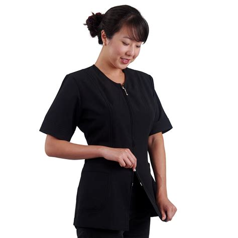zippered hair cutting smock in can plus size hair stylist smock hairstylegalleries com
