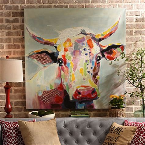 Kirkland Home Decor Store Pics Photos Krishna Cow Painting Art Print Canvas Paper