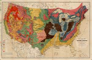 geological map of the united states compiled by c h