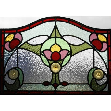 flower design in glass 047 1930 s stained glass panel with flower design