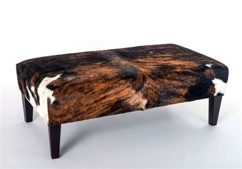 ottoman instead of coffee table 69 best images about cowhide ottomans furniture on