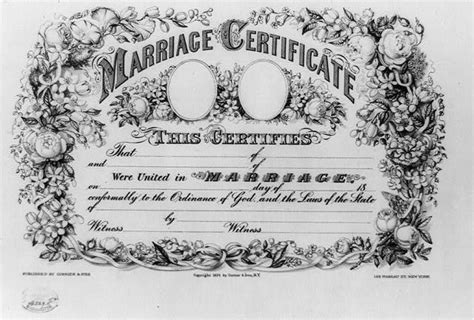 New York City Marriage Records 1800s Marriage Certificate This Certifies That