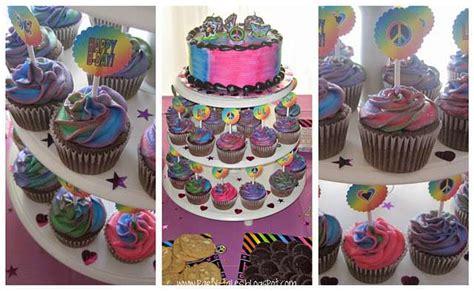 neon doodle cake ideas neon doodle groovy rocker birthday ideas