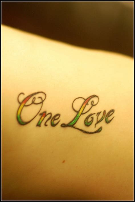 loved ones one love one heart tattoos