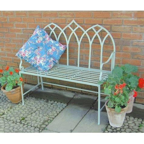 green garden bench metal garden furniture bistro sets benches homegenies