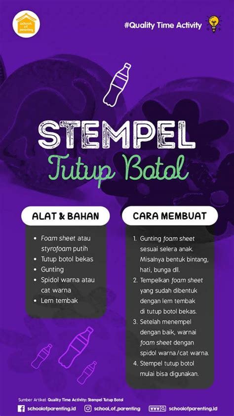 Stempel Kadaluarsa Tutup Botol quality time activity stempel tutup botol school of