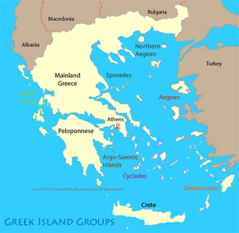map of greece islands map of greece island groups mapping europe