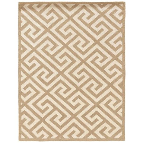linon home decor silhouette key beige and white 8 ft x 10