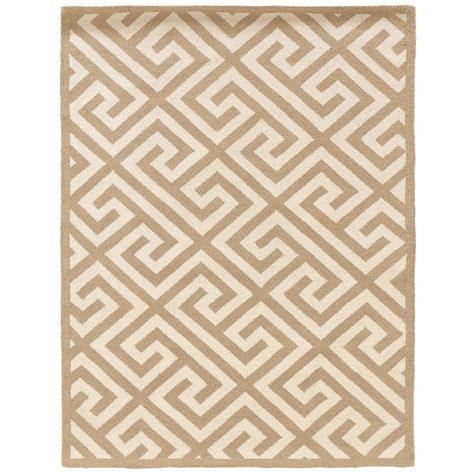 linon home decor rugs linon home decor silhouette key beige and white 8 ft x 10