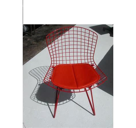 vintage mid century side chair vintage mid century knoll bertoia side chair orange
