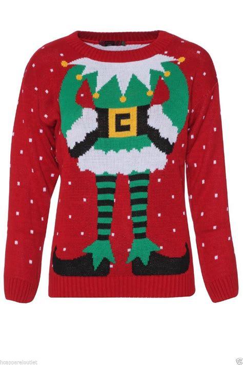 ladies womens elf body towie sam christmas xmas jumper