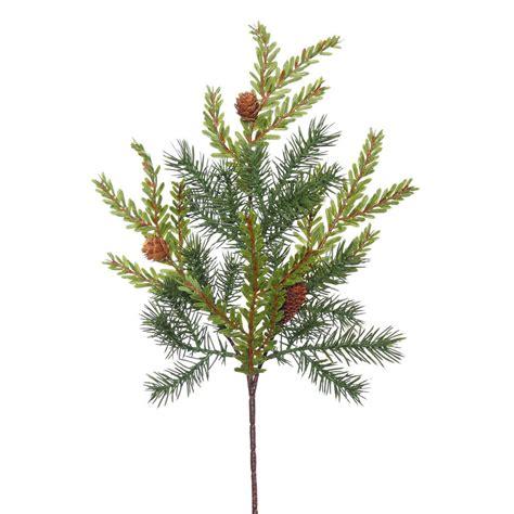 artificial hemlock tree 18 inch hemlock pine spray with cones e151604