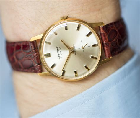 classic s montine gold plated swiss