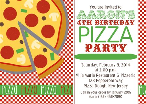 printable pizza party invitation template chandeliers pendant lights