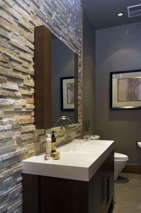 felsen im badezimmer waschbecken cool bathroom wall for the home steine