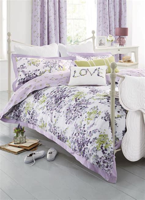 mauve bedding set buy mauve watercolour floral cotton sateen bed set from