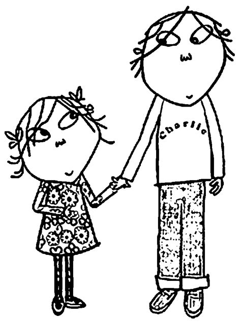 lola and charlie coloring pages coloring home