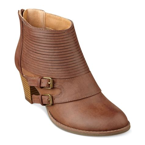 pink and pepper didi booties in brown lyst