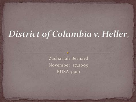 Search District Of Columbia District Of Columbia V Heller