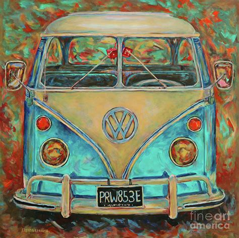 volkswagen bus painting hippie van painting www pixshark com images galleries