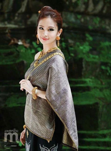 Dress Thaigirl so beautiful lao fashion asian thai dress and traditional clothes