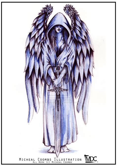 tattoo sketch angel guardian angel tattoo commission by mikecoombsart
