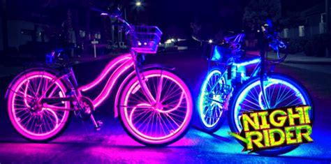 night rider family bike ride  city   rock